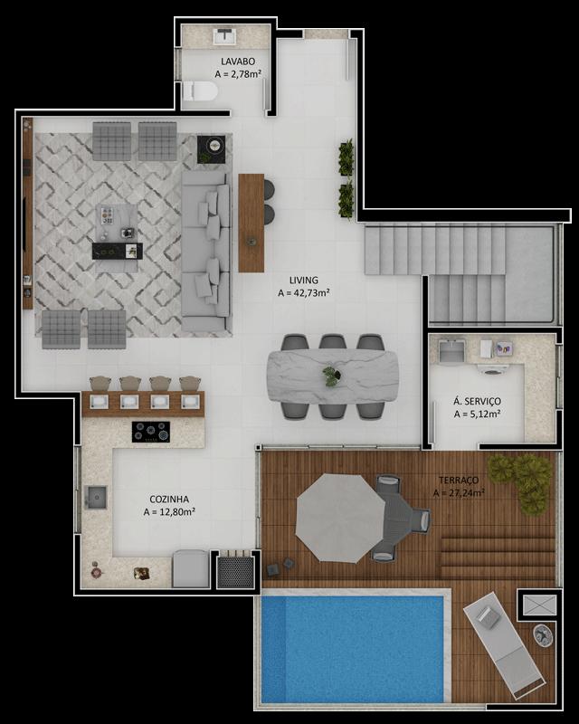 Duplex final 1 superior (Planta)