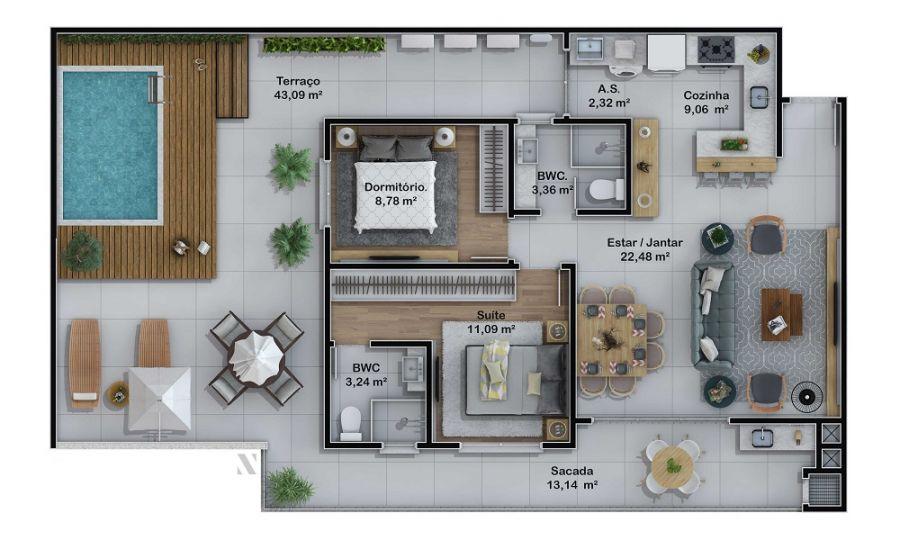 Apartamento 101 (Planta)