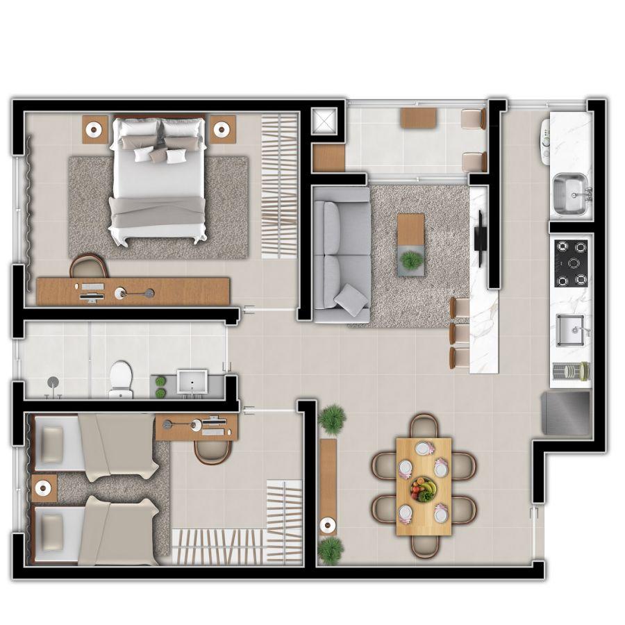 Apartamento Tipo 1 (Planta)