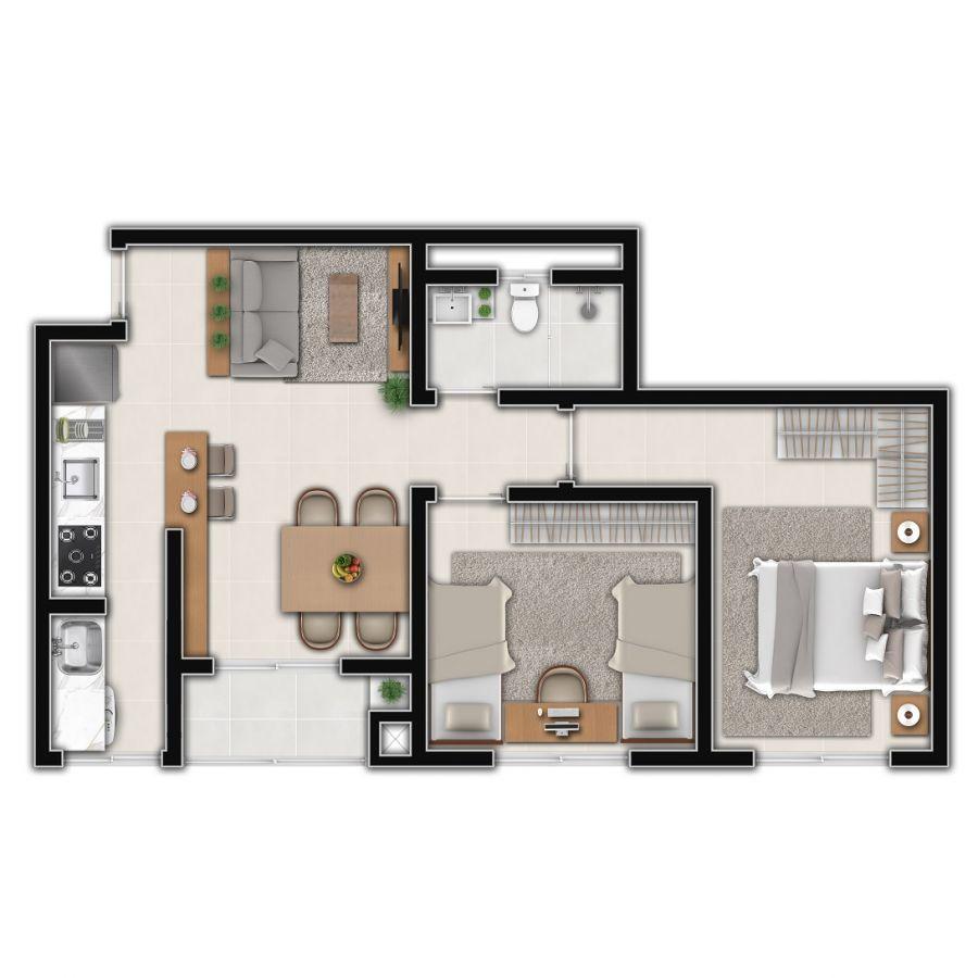 Apartamento Tipo 2 (Planta)