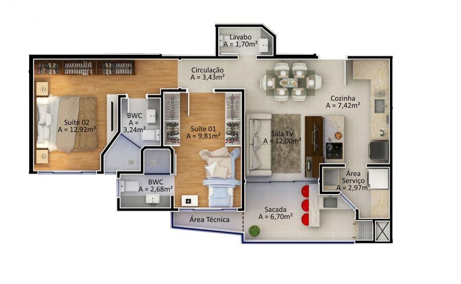Apartamento Tipo 4 (Planta)